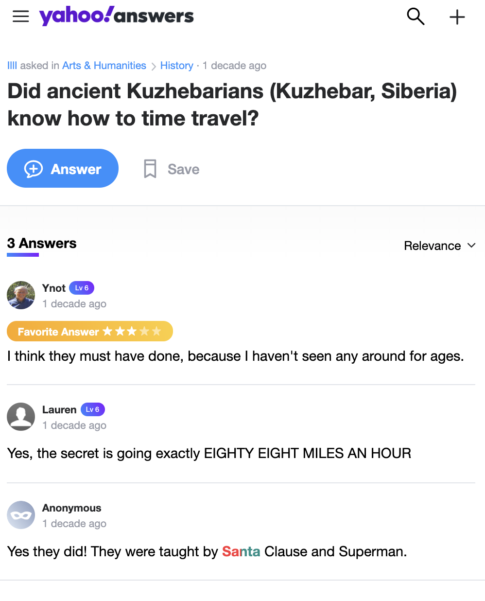 Kuzhebarians time travel